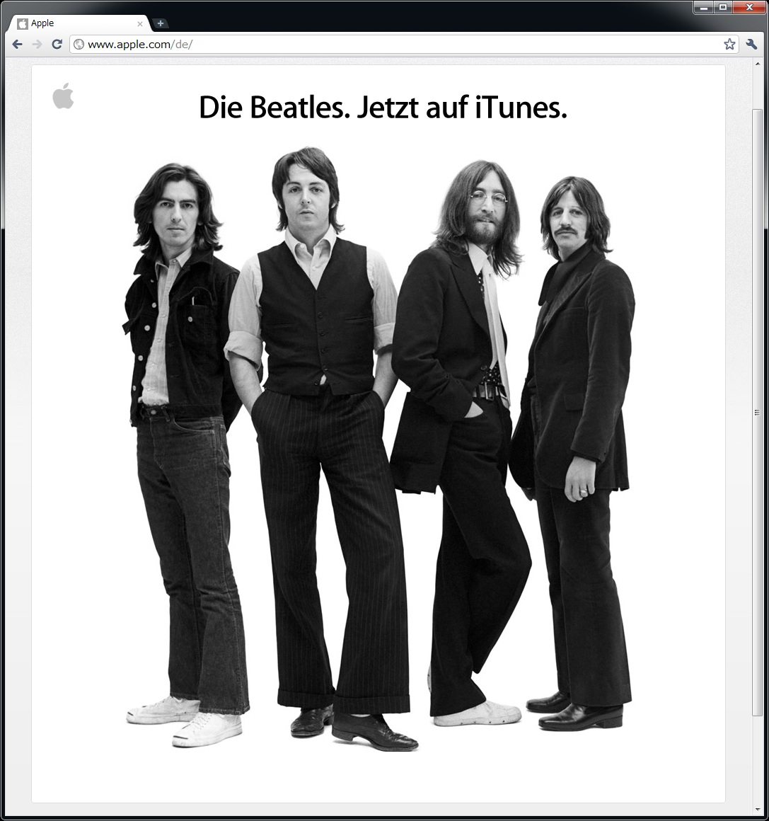 アップルの発表(ドイツ版)