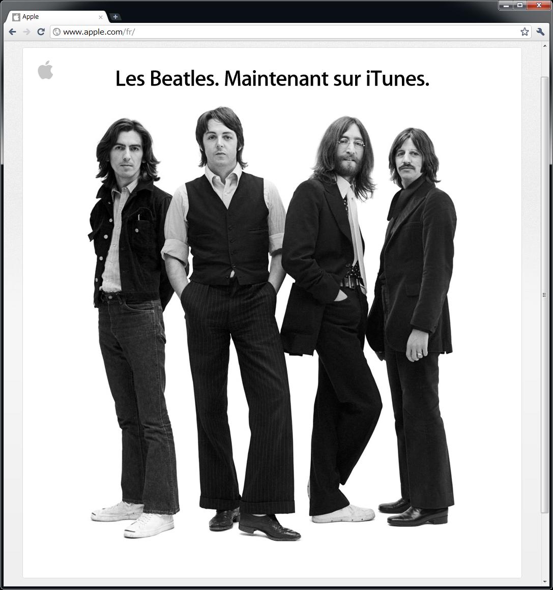 アップルの発表(フランス版)