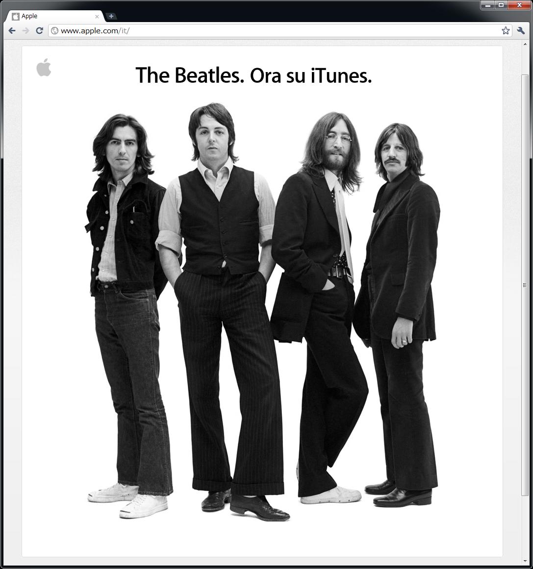 アップルの発表(イタリア版)