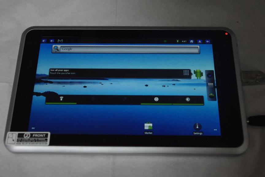 中華Androidタブレット LY-F521(GT-PAD,M801)を購入