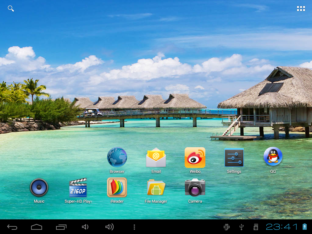 Teclast A10t official android4.0.3-V1.11 を焼いた