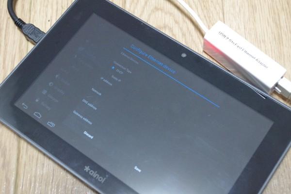 Ainol Novo7 Elf2 用に USB-Ethernet Adapter を買ってみたが…